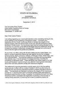 Bondi letter Florida Supreme Court