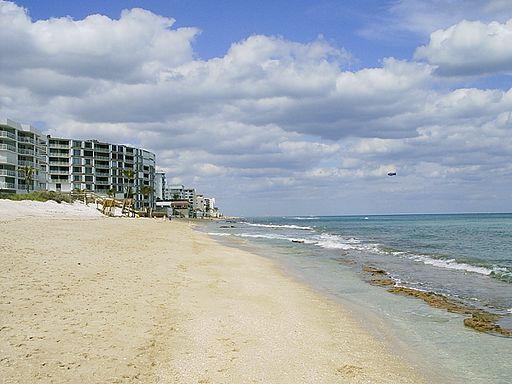 South Palm Beach - buildings facing beach